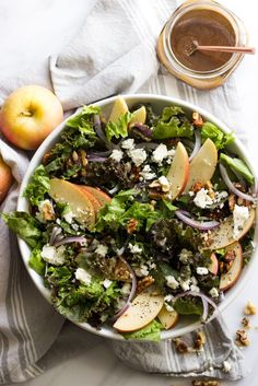 Autumn inspired apple walnut salad that comes together super quickly ...