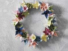 Origami-Blütenkranz | sweet paul