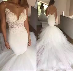 Sexy Chapel Train Mermaid Backless Wedding Dresses 2017 Plus Size Vintage Lace White Tulle Beach Country Cheap Bridal Gowns Vestido De Novia Arabic Wedding Dresses Mermaid Wedding Dresses 2018 Wedding Dresses Online with $236.58/Piece on Sarah_bridal's Store | DHgate.com #mermaidweddingdresses