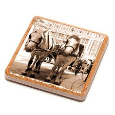 Horse Carriage - Vienna - Stone Drink Coaster