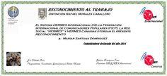 Reconocimientos 2014: Marian Santana Domínguez Distinción Rafael Morales Caballero