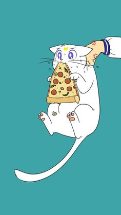 Oh look I found a picture of my actual soul  壁纸 Artemis eat pizza