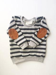 elbow patch sweatshirt baby sweatshirt toddler by LolaandStella