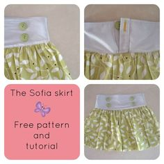 On the Cutting Floor - The Sofia skirt free sewing pattern and tutorial for diy projects