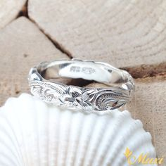 Hawaiian Jewelry Silver Traditional  Hawaiian Barrel Ring (LBR0133)