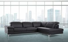 Stylish Design Furniture - Carnation Modern Black Leather Sectional Sofa, $1,210.00 (http://www.stylishdesignfurniture.com/products/carnation-modern-black-leather-sectional-sofa.html)