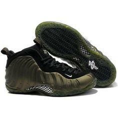56eeab9019e www.anike4u.com  Nike Air Foamposite One Army Green Black Cheap Jordan Shoes