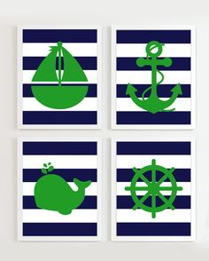 Nautical Nursery Navy Green