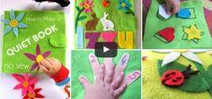 Come fare libro in feltro per bambini senza cucire – Tutorial