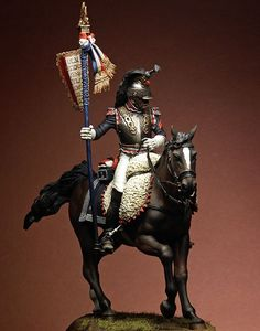 French Cuirassier 75MM Pegaso painted by Danilo Cartacci