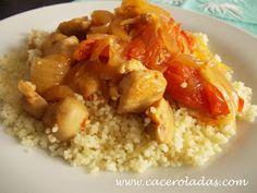 Caceroladas: Cous-Cous de pollo al curry con verduras salteadas.