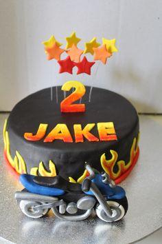 Motorbike cake Happy Birthday, Birthday Cake, Motorbike Cake, Cupcake Recipes, Motorbikes, Cake Toppers, Planes, Trains, Party