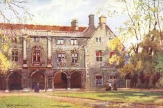 Cambridge 'Pepy's library, Magdalane college' by W Matheson printed and published in 1916