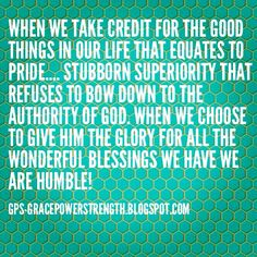 Give God the glory! ...without Him, we can do nothing!