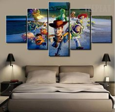 The Toy Story Painting - 5 Piece Canvas #prints #printable #painting #canvas #empireprints #teepeat