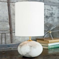 Alabaster Orb Lamp by Regina Andrew - so classy as a buffet lamp!!  Simple elegant and understated - $198