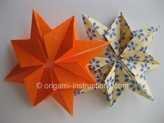 Origami 8 Pointed Star Folding Instructions - How to make an Origami 8 Pointed Star