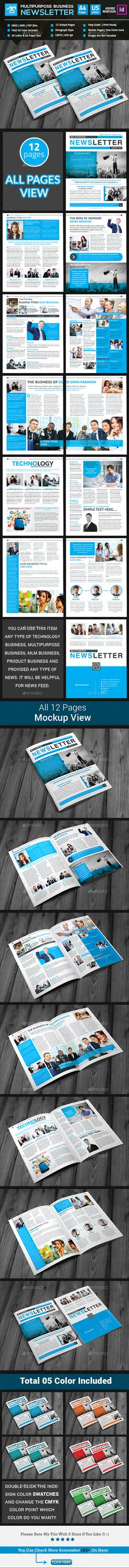 Business Newsletter Template Newsletter templates and Print - business newsletter