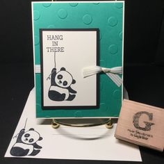 Stampin' Up: Party Pandas set is FREE with $50 purchase through 3/31/18 (see the 2018 Sale-a-Bration Catalog). Sentiment from Honeycomb Happiness (2016).