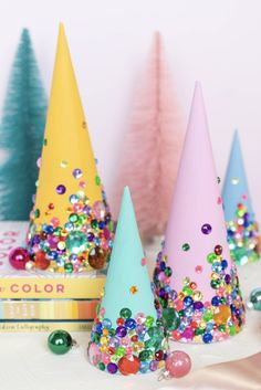 It's time for some Fresh and Fabulous DIY Holiday Crafts To Make Now. Come and check out some brand new Holiday and Christmas Crafts hot off the presses! Pink Christmas, Christmas Candy, Winter Christmas, Holiday Fun, Holiday Crafts, Vintage Christmas, Christmas Holidays, Whimsical Christmas, Christmas Projects