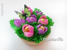 Мастер-класс «Букет цветов из конфет»: поделка к 8 марта с детьми