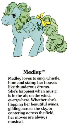 My Little Pony Medley fact file ...