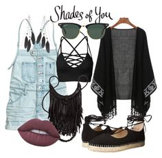 """""""Shades of You: Sunglass Hut Contest Entry"""" by mariasyr ❤ liked on Polyvore featuring Ray-Ban, Steve Madden, Charlotte Russe, Lime Crime and shadesofyou"""