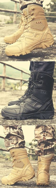 Tough and dependable. On Duty or off. The Military Tactical Boot is a legend among soldiers, made especially for servicemen and women. Military Tactical Boots, Tactical Wear, Tactical Clothing, Military Gear, Mens Shoes Boots, Ugg Boots, Combat Boots, Shoe Boots, Mens Fashion Shoes