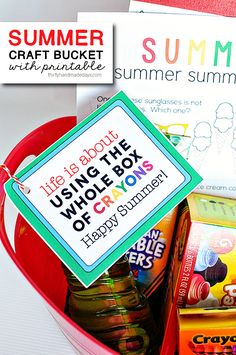 Summer Craft Bucket