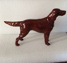 Vintage porcelain dog figurine of Red Setter Sugar of Wendover by Beswick by LADYG99 on Etsy