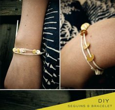 DIY Sequin Bracelet!