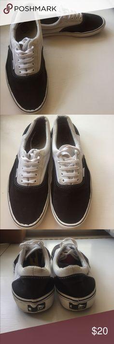 Black and white Vans Black and white Vans | Size 10 Vans Shoes