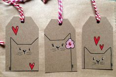 diy gifts These tagged envelopes add a first-class touch to your first-class mail. Perfect for gifts too! Get the DIY instructions at Oh Crafts. Cat Crafts, Arts And Crafts, Christmas Tag, Christmas Crafts, Handmade Christmas, Halloween Crafts, Diy Paper, Paper Crafting, Paper Tags