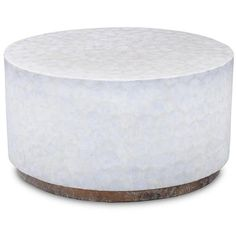 Crafted Home Montgomery White Round Coffee Table ($354) ❤ liked on Polyvore featuring home, furniture, tables, accent tables, white, polish furniture, round occasional tables, white table, round coffee table and white furniture