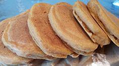 Happy Herbivore Pumpkin Pancakes -  Recipe: 1 c white ww flour, 1 T baking powder, 1/2 tsp pumpkin spice, pinch salt, 1/4 cup pumpkin, 1 c nondairy milk. Whisk dry, add wet. Rest 10 minutes. Use 1/4-cup batter per pancake. (makes 6)
