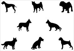 Dog Silhouette Vector Graphics Pack - Silhouette Clip Art