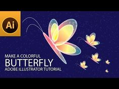 Hi today, I am showing you, make a colorful butterfly shape in in adobe illustrator. This tutorial guides, how to use symbols with symbol sprayer tool to mak. Graphic Design Trends, Graphic Design Tutorials, Adobe Illustrator Tutorials, Ai Illustrator, Typography Tutorial, E Motion, Butterfly Shape, Photoshop Photography, Interactive Design
