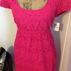 Donna Morgan Dresses - Donna Morgan Fuchsia Eyelet Dress