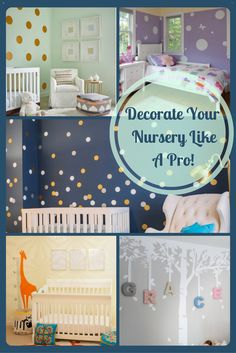 In this round up blog we show you how Interior Design Pros use vinyl wall stickers to decorate a nursery.
