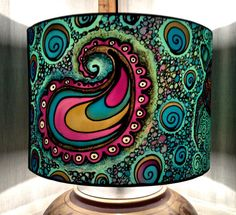 Turtle Paisley Spiral Design Hand Silk Painted by CarinaThumbelina
