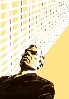 """Lee Marvin in Point Blank - illustration in the graphic novel """"Parker: The Martini Edition"""" by Darwyn Cooke"""