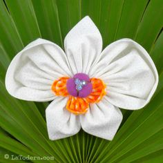 Fabric Flower Tutorial Pattern - Orchid  Brooch Phalaenopsis by La Todera
