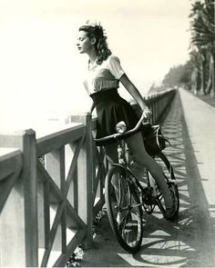 pinterest.com/fra411 #vintage #fashion - 1943 » Susan Peters from Howie Cohen's Everything Bicycles ǀ Hollywood Rides a Bike { AnOther }