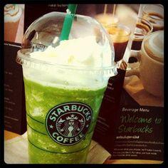 Sbux Green Tea Cream Frappuccino (w/o red bean puhhhlissss~)