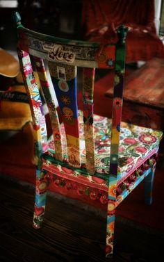 Painted Chair @Carol Van De Maele Markel Emens pages