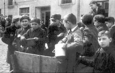 Shoah - The Holocaust - Meagre meals distributed at Jewish schools in the Lodz Ghetto