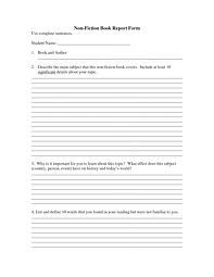 Nonfiction Social Issues Book Report Form Pg  Comes From My