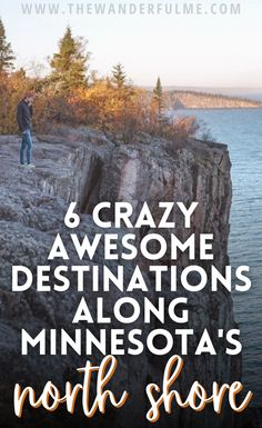 Where You Should Stop When Road Tripping MN's North Shore -- Are you planning a North Shore trip? Be ready for beautiful waterfalls, heart-dropping cliffs, and stunning views of Lake Superior! This area of the Minnesota is no doubt one of the best. Here's my list of popular destinations along Minnesota's North Shore. #northshore #minnesota #usa #roadtrip New York Travel, Usa Travel, North America Destinations, Los Angeles Travel, Usa Roadtrip, Beautiful Waterfalls, Lake Superior, Great Lakes, Stunning View