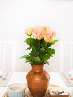 My lovely new copper vase. By Cake Me! Oslo www.facebook.com/cakemeoslo