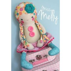 Melly & Me Miss Melly Rag Doll Toy Pattern